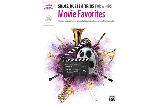 Solos, Duets & Trios for Winds: Movie Favorites Book and CD (Alto Sax/Bari Sax)