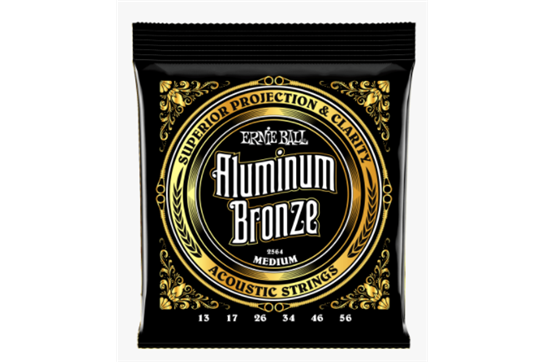 Ernie Ball 2564 Medium Aluminum Bronze Acoustic Guitar Strings