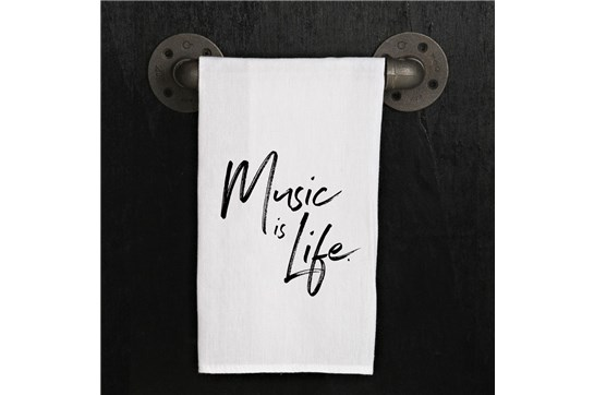 Flour Sack Towel - Music is Life