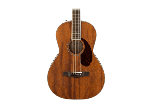 Fender PM-2 Parlor, All Mahogany, Natural Acoustic