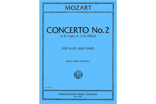 Flute Concerto No. 2 in D Major, K. 314 by W.A. Mozart