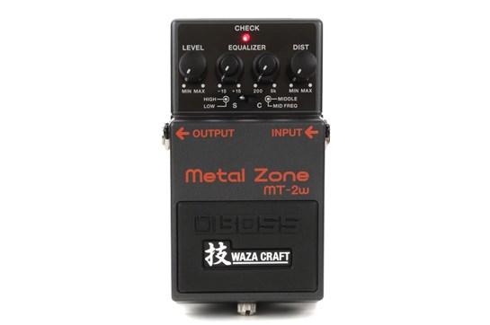 boss mt 2w metal zone waza craft distortion guitar effects pedal heid music. Black Bedroom Furniture Sets. Home Design Ideas
