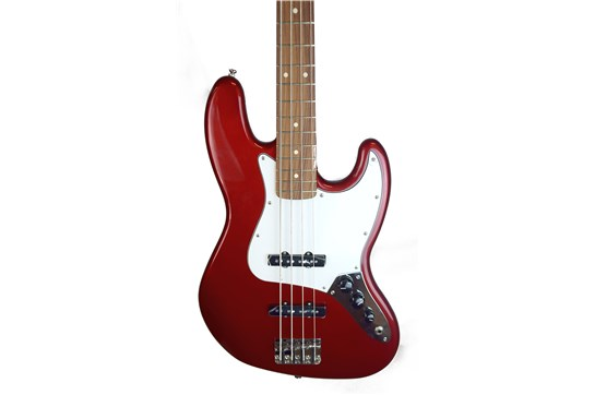 Used Fender Standard Jazz Bass Guitar (Candy Apple Red)