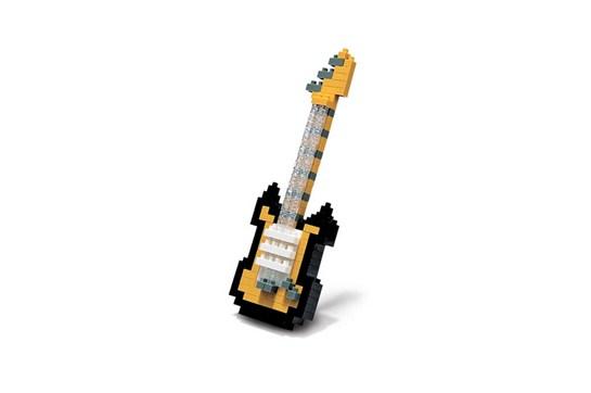 nanoblock Gold Electric Guitar