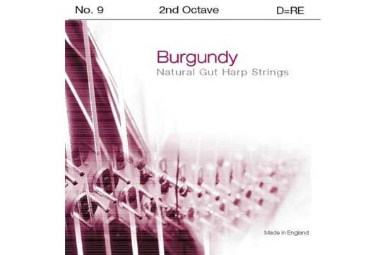 Burgundy 2nd Octave D Harp String