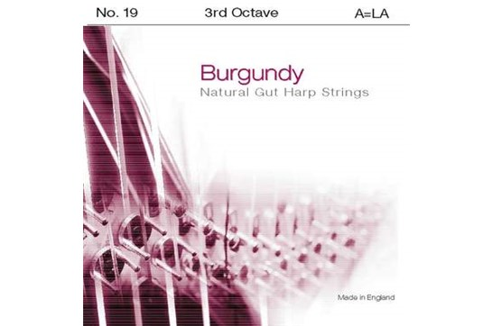 Burgundy 3rd Octave A Harp String