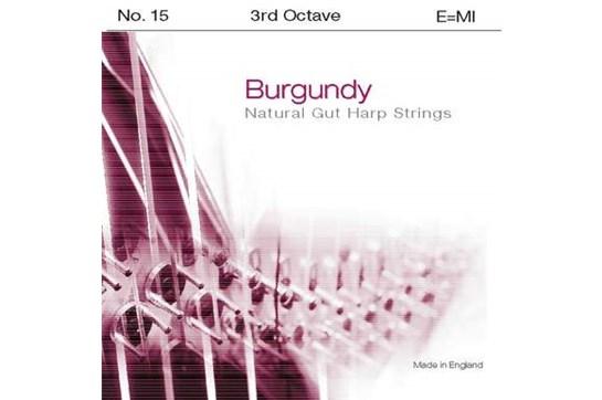 Burgundy 3rd Octave E Harp String