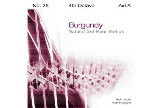 Burgundy 4th Octave A Harp String
