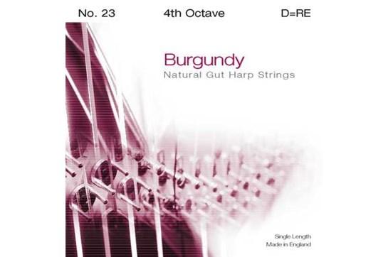 Burgundy 4th Octave D Harp String