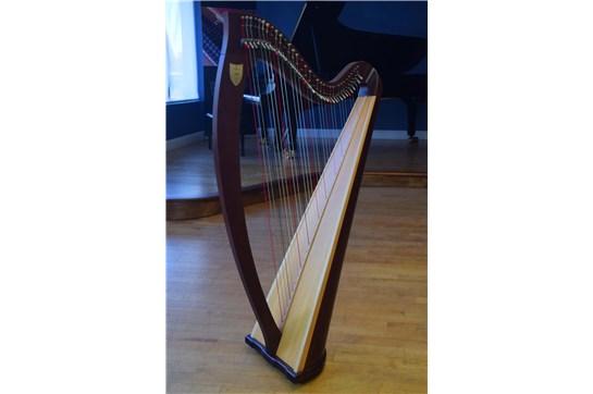 Lyon & Healy Ogden Lever Harp - Mahogany