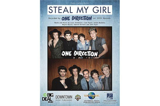 One Direction - Steal My Girl Piano / Vocal / Guitar Sheet Music