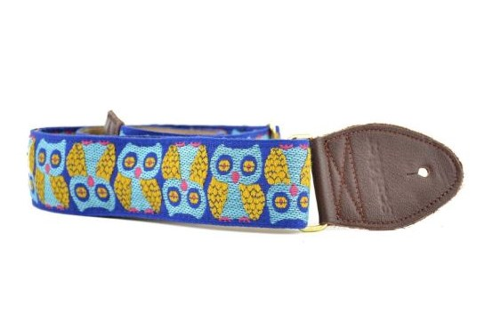 Souldier Guitar Strap Blue/Gold Owl