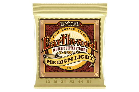 Ernie Ball Earthwood 80/20 Bronze Acoustic Guitar Strings, Medium Light