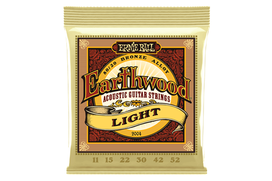 Ernie Ball 2004 Earthwood 80/20 Light Acoustic Strings .011-.052