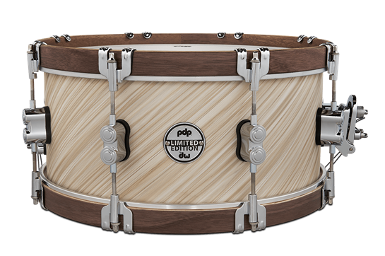 PDP Limited Edition Wood Hoop Snare - Twisted Ivory & Walnut