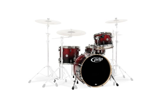PDP Concept Birch CB4 (Cherry-Black Fade) 4-pc shell pack