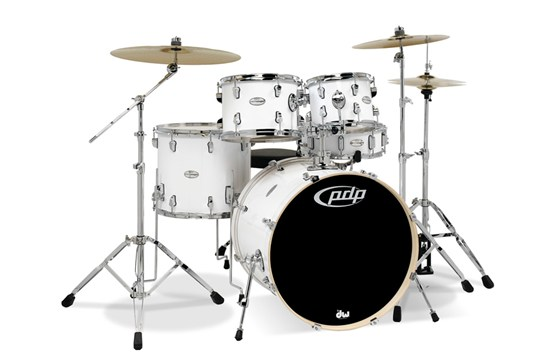 PDP Mainstage 5-Piece Drum Set w/ Cymbals (Gloss White)