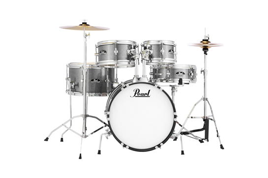 Pearl Roadshow Jr. Drum Set with Hardware and Cymbals  (Grindstone Sparkle)