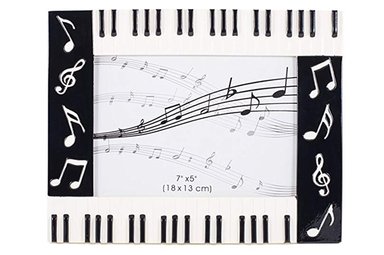 Keyboard with Musical Notes Frame (5x7)
