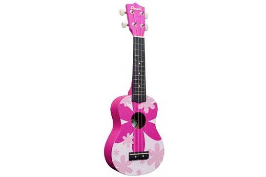 Amahi DDUK4 Soprano Ukulele (Pink Flower)