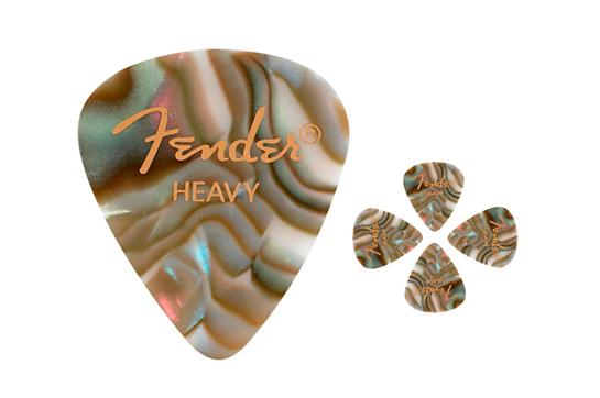 Fender Abalone Heavy Guitar Picks (12 Pack)