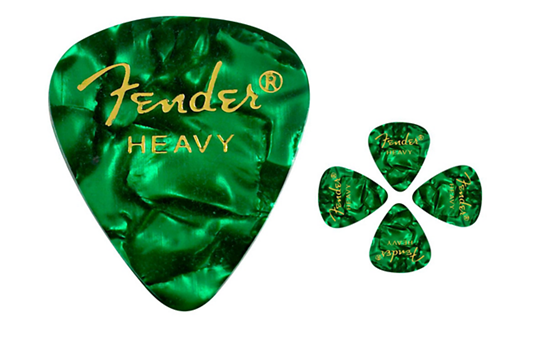 Fender Pick Pack 12 (Green Moto Heavy)