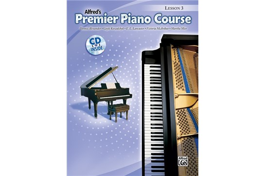 Premier Piano Course, Lesson 3 with CD