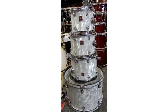 Used Premier 4-Piece Drum Set (White Satin Flame)