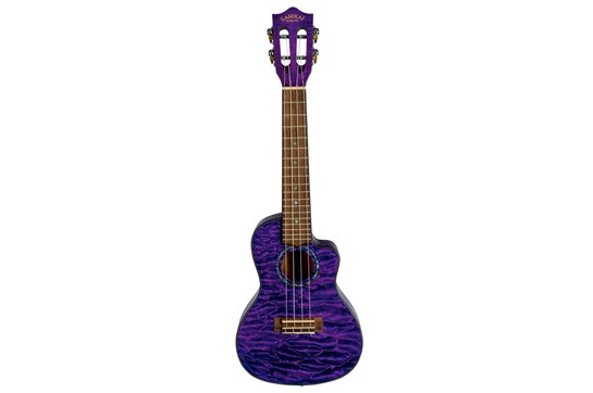 Lanikai Quilted Maple Concert Ukulele - Purple