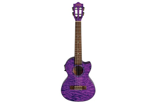 Lanikai Quilted Maple Tenor Ukulele - Purple