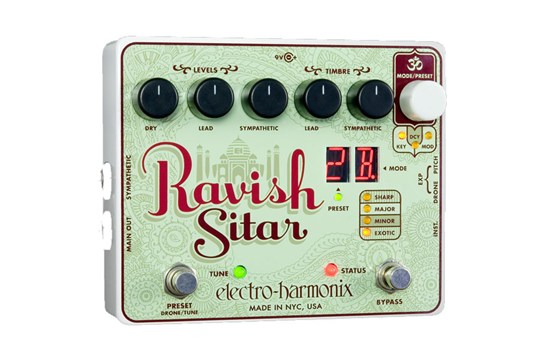 Electro-Harmonix Ravish Sitar Synthesizer Guitar Effects Pedal