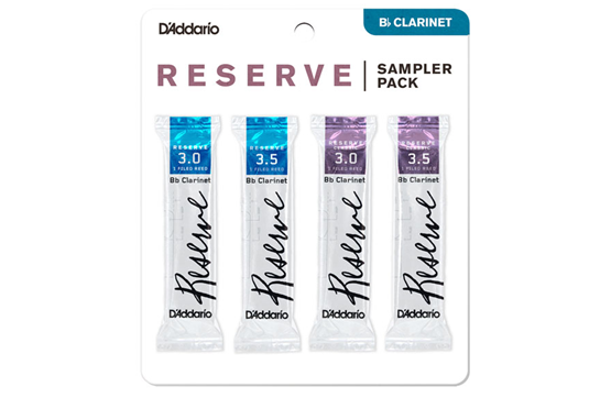 Reeds, D'Addario Clarinet Reserve 3/3.5 Sample Pack