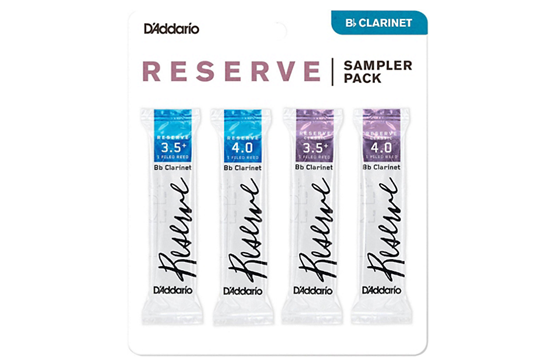 Reeds, D'Addario Clarinet Reserve 3.5/3.5+/4 Sample Pack