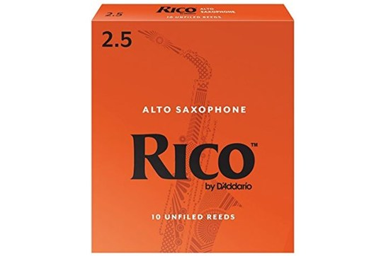 Rico Alto Saxophone Reeds Strength 2.5 (Box of 10)