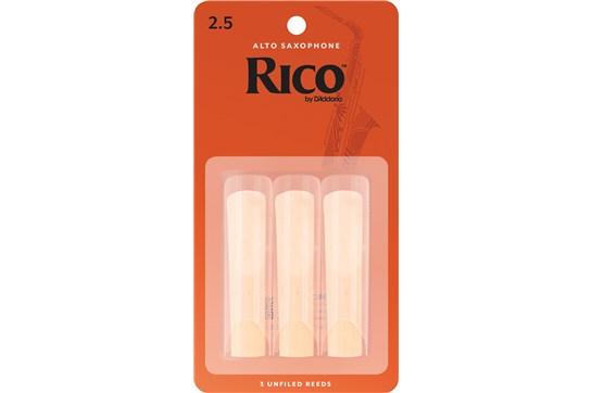 Rico Alto Saxophone Reeds Strength 2.5 (3-Pack)