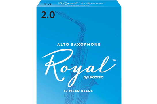 Rico Royal Alto Saxophone Reeds Strength 2 (Box of 10)
