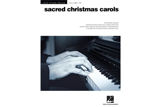 Jazz Piano Solos Volume 39 Sacred Christmas Carols
