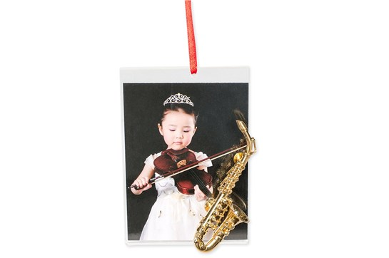 Picture Frame Ornament With Saxophone