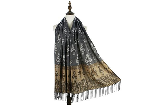 Musical Pashmina Scarf (Brown/Black)
