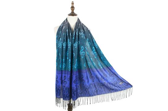 Musical Pashmina Scarf (Blue)