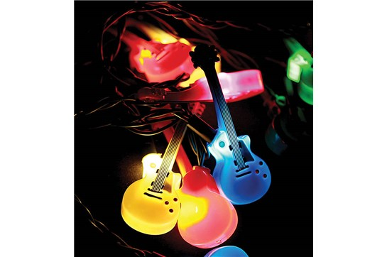 Electric Guitar Double Cutaway LED Party Lights