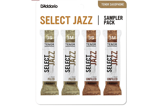 Reeds, D'Addario Tenor Sax Select Jazz 3S/3M Sample Pack