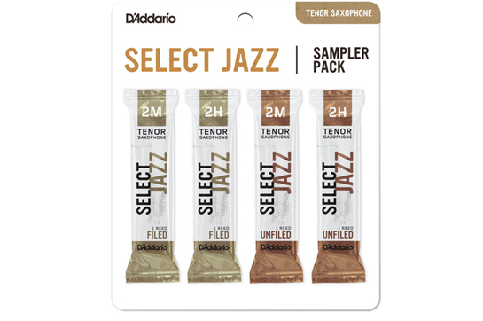 Reeds, D'Addario Tenor Sax Select Jazz 2M/2H Sample Pack