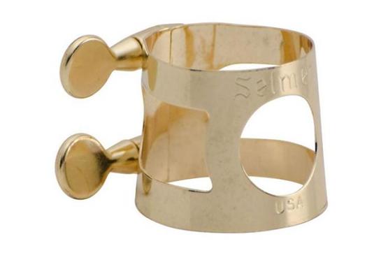 Conn-Selmer Alto Sax Ligature 1714 - Gold Lacquer