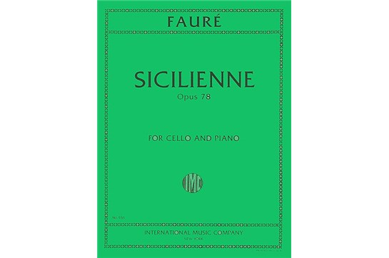 Sicilienne, Opus 78 for Cello