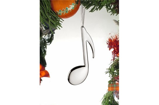 Broadway Gifts Silver 8th Note Ornament
