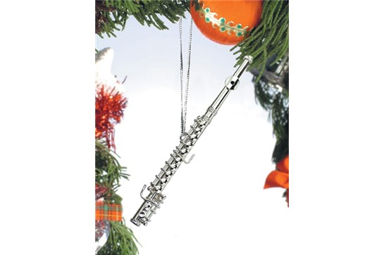 Broadway Gifts Silver Flute Ornament