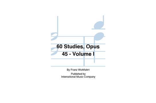 60 Studies Opus 45 Volume I Viola