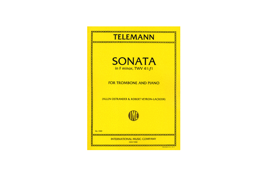Sonata in F minor Trombone