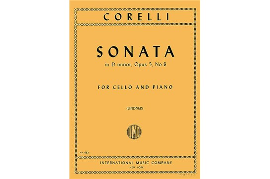 Sonata in D minor, Op. 5 No. 8 for Cello